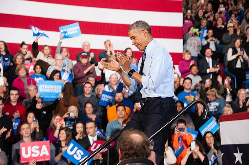 Obama at UNH Rally