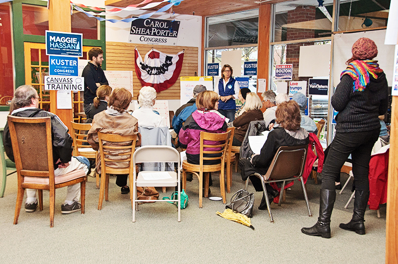 Training at the PAD Headquarters during the 2016 election season