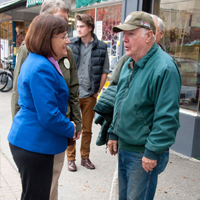 Annie Kuster on one of her Main Street walks